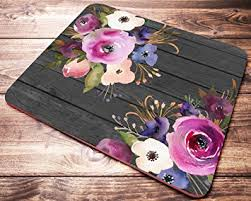 floral pink flowers mouse pad coworker gifts desk Floral Desk Accessories