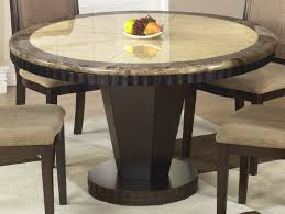 Round Pedestal Dining Room Table Modern Round Pedestal Dining Table With Granite Top And Beige