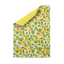 lemons reversible wrapping paper pack of five by berinmade