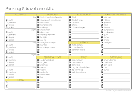 travel list images Free printable packing and travel checklist the organised jpg