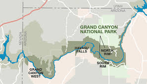 Map The Meal Gap 3 Rims Of The Grand Canyon North South And West My Grand