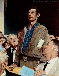 norman rockwell freedom of speech collotype print collotype prints