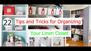 Home Tips And Tricks by 22 Tips And Tricks For Organizing Your Linen Closet Youtube