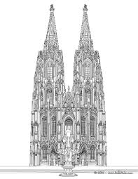 cathedral of cologne coloring pages hellokids com