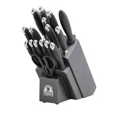 amazon com sabatier 17 piece soft grip forged stainless steel