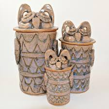 Pottery Kitchen Canisters 28 Owl Kitchen Canisters Vintage Two Sided Ceramic Owl