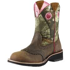 ariat fatbaby mossy oak cowgirl cowboy boots