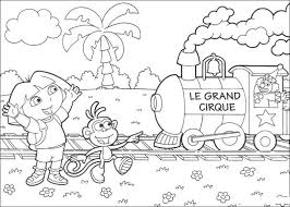dora explorer spanish circus coloring pages fun