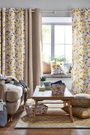 Danielle Eyelet Curtains by Buy Ochre Eden Floral Print Eyelet Curtains From The Next Uk