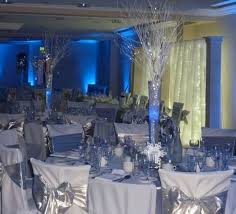 gorgeous white and silver wedding reception wedding reception