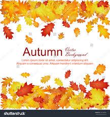 horizontal borders oak leaf abstract background stock vector