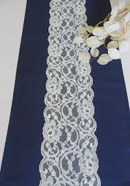 fabric for table runners wedding navy blue lace table runner 3ft 11ft long x12in wide wedding decor