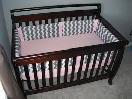 Pink Chevron Crib Bedding Side Up June 2013