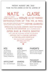 cheap wedding ceremony programs best 25 wedding program thank you ideas on