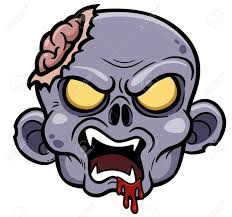 vector illustration of cartoon zombie royalty free cliparts