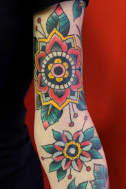 simple flowers american traditional tattoo tattoomagz