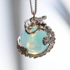 crystal ball necklace images Shop dixi boho necklace low in stock dragon cuddles crystal ball n jpg
