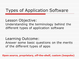 types of application software lesson objective understanding the