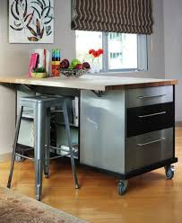 Kitchen Island Metal Enthralling Kitchen Island On Wheels Of Butcher Block Countertops
