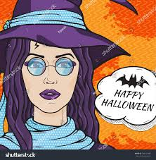 vintage witch costume vintage witch hat round glasses message stock illustration