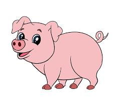 coloring graceful pig cartoon drawing maxresdefault