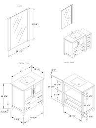 standard vanity depth typical bathroom vanity vanity cabinet