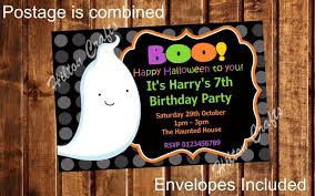halloween birthday invite halloween party personalised party invites birthday invitations