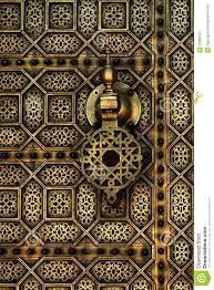 moroccan style copper door stock images image 20386254
