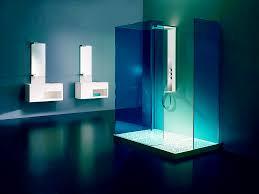 best blue bathroom interior themes orchidlagoon excotic blue bathroom shower lighting
