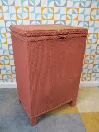 vintage 1950 u0027s dark pink lloyd loom style ottoman blanket box
