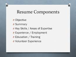 Areas Of Expertise Resume Areas by Creating A Resume Ppt Video Online Download