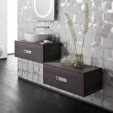 bauhaus seattle 800mm vanity unit with serene platinum 580mm basin