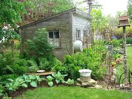 Rustic Garden Ideas Rustic Garden Shed Lean To Shed With A Rustic Charm Budget