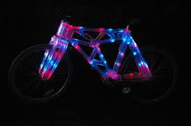 Monkey Bike Lights Tron Bike Clear Plastic Bike With Led Edge Lighting 11 Steps