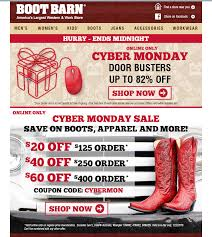 Boot Barn Coupons In Store 5 Examples Of Email Marketing On Cyber Monday Practical Ecommerce