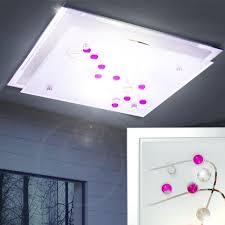 Wohnzimmer Deckenlampe Design Deckenleuchte Metall Glas Wohnzimmer Deckenlampe Dekorsteine Bunt