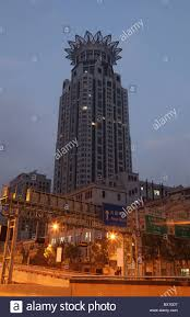 highrise building of the westin hotel with crown on top in