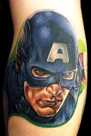 human canvas tattoo tattoos portrait captain america