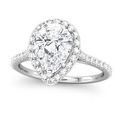 pear shaped ring shaped engagement ring setting