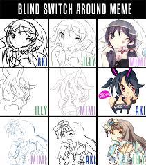 Switch Around Meme - love live blind switch around meme by akiicchi on deviantart