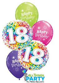 balloons for 18th birthday 18th birthday confetti dazzler balloon bouquet 18bd07 all things