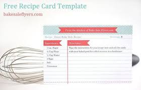 word recipe card template free printable recipe card template for