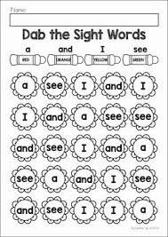 spring preschool worksheets u0026 activities pre primer sight words