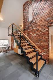Brick Stairs Design Brick Stairs Staircase Modern With Monochromatic Contemporary