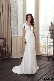 v neck wedding dresses eb008 v neck satin wedding dress with unique sleeve design
