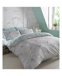 Kingsize Duvet Cover Vintage Birds Mint King Size Duvet Cover And Pillowcase Set Bedding