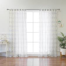 Yellow Sheer Curtains Yellow Sheer Curtain Panel 84 In L X 52 In W 1 Panel