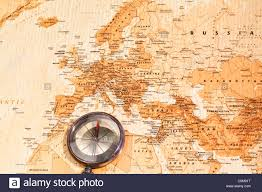 Map Of Middle East And Europe by World Map With Compass Showing Europe And The Middle East Stock