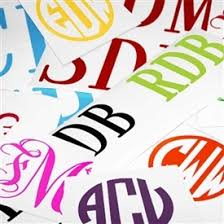 monogram stickers monogram stickers decals mad for monograms