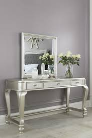 monarch specialties brushed silver bedroom vanity mirror luxury